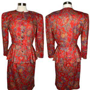 Vintage 80's PERI Petites Blazer & Skirt Suit